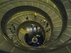 escalier, escargot, spirale